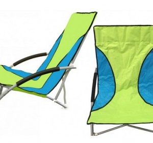 010921 Low Folding beach chair Green