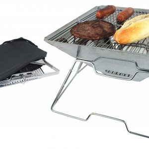 481129 yellowstone steel pack flat bbq with carry case 081