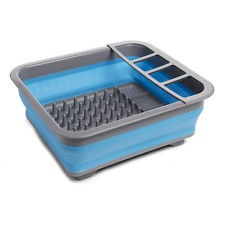 Collapsible Dish Drainer Blue 1